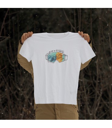 Tee-shirt Be Part of the Mountain masque/bouquetin