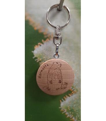 Porte-clef marmotte