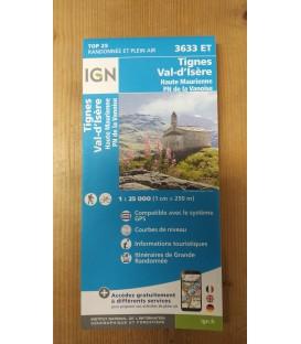 Carte IGN - 3633 ET Tignes - Val d'Isère