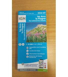 Carte IGN - 3532 ET Les Arcs - La Plagne