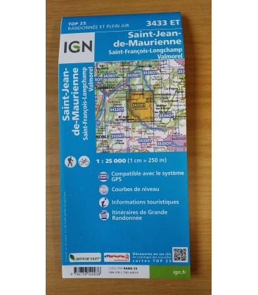 Carte IGN - 3433 ET Saint Jean de Maurienne