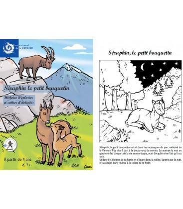 Séraphin le petit bouquetin, histoire à colorier et cahier d'activités